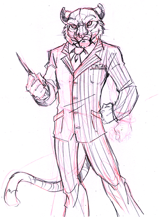 532x726 Tiger Gangster By Lady Cybercat