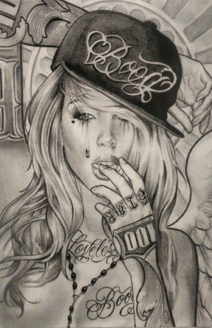 427x659 Boog Chicano Girl Dope Chicano, Girls And Tattoo