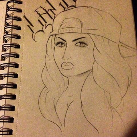 480x480 Gangster Girl Drawing