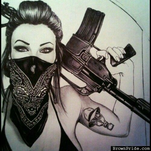 500x500 Image Result For Gangster White Girl Sketches Sickkk Asf