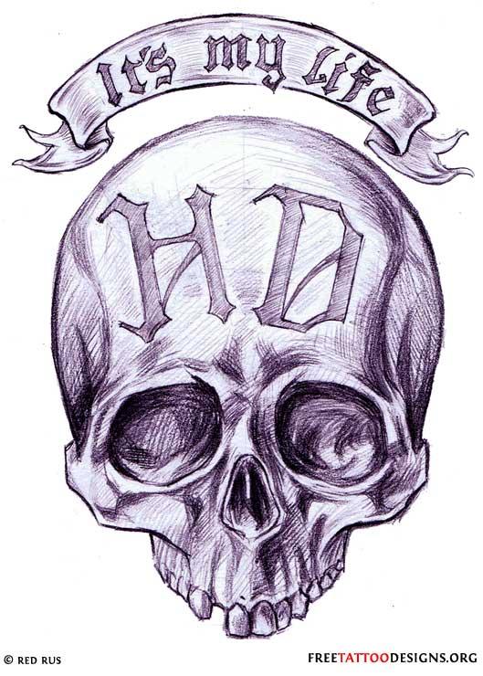 529x740 Latest Gangster Skull Tattoos