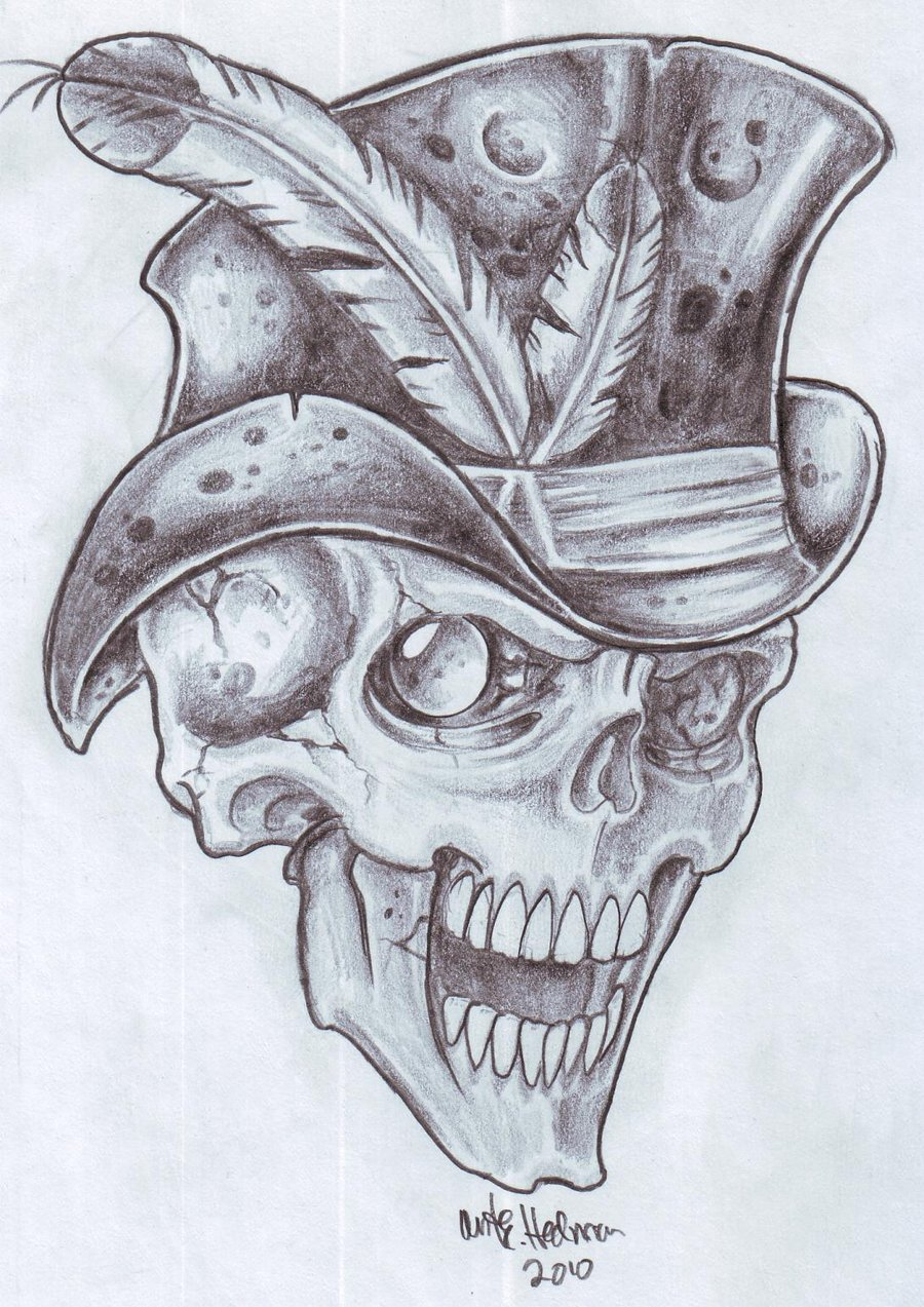 900x1273 Bg Skull 2 By Vikingtattoo