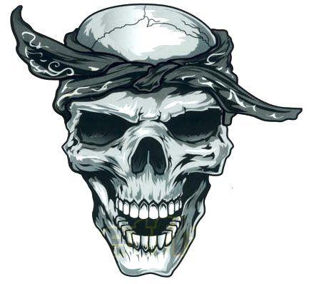 440x398 Gangsta Tattoo Drawings Gangster Skull Decal Sticker Projects