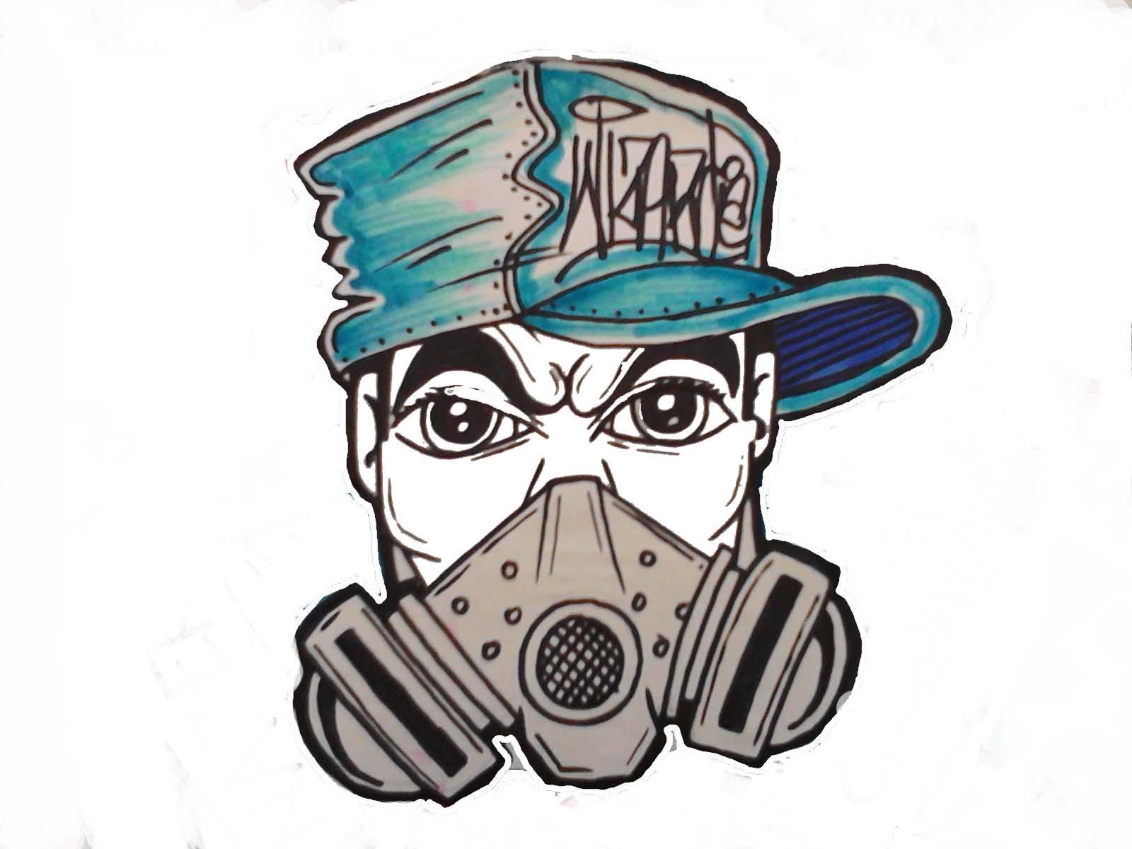 1600x1200 Graffiti Characters Gangster Skull Drawing A Gas Mask Character