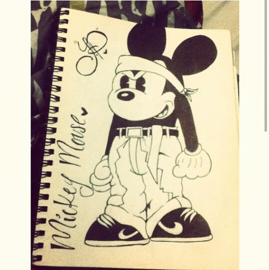 539x540 Gangster Mickey Drawing My Drawings Gangsters And Draw