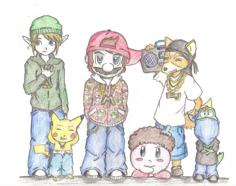 800x631 Nintendo Gangsters By Jedi Kitty Chan