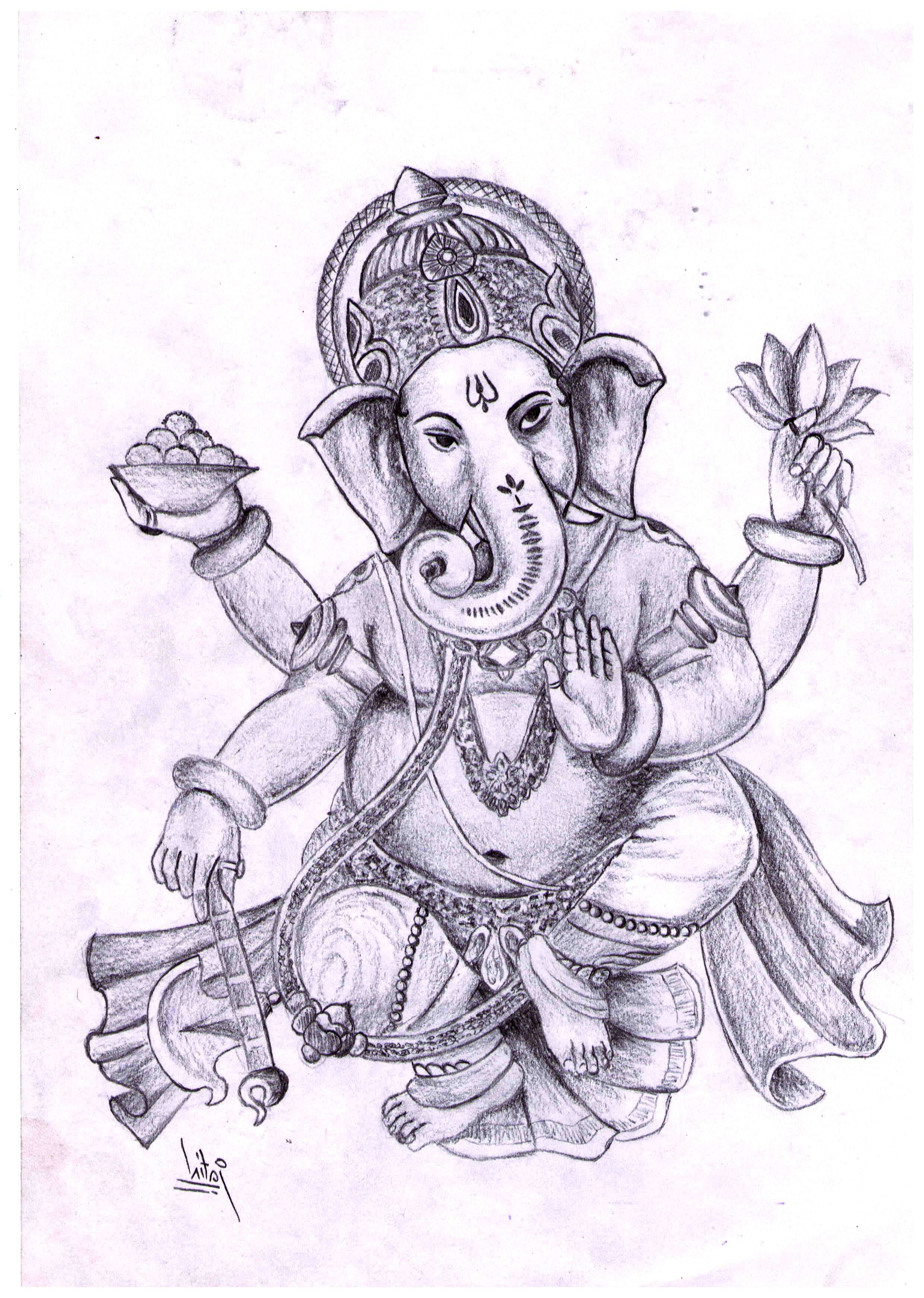 Ganpati Drawing at GetDrawings | Free download