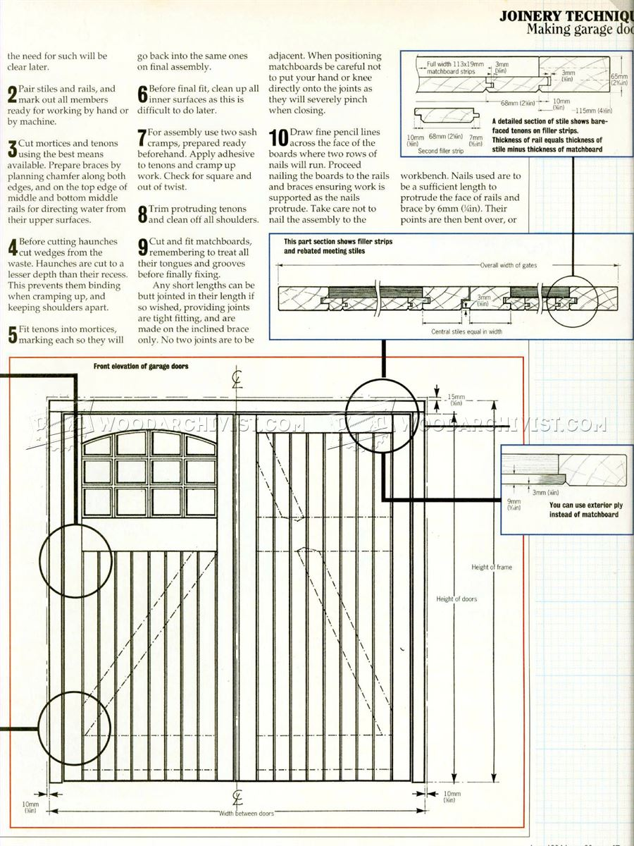 900x1200 Garage Door Plans Woodarchivist