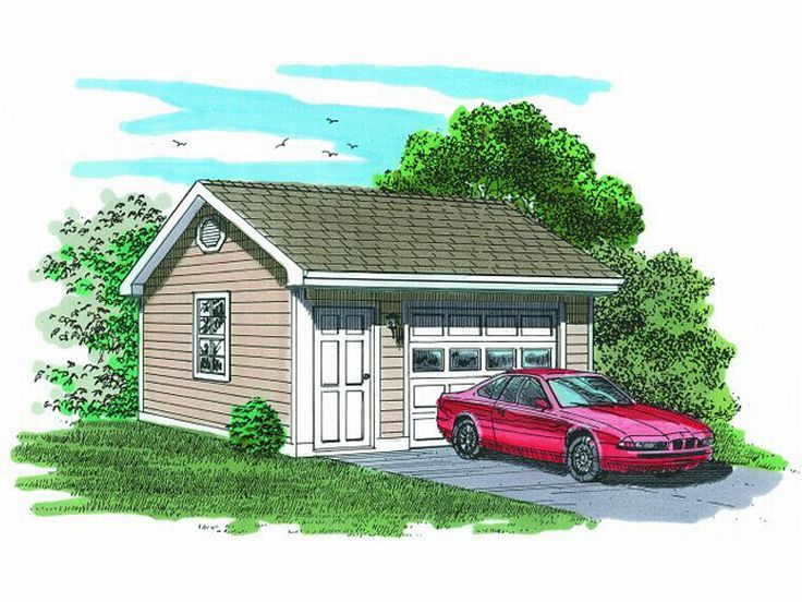 736x552 1 Car Garage Plans Detached One Car Garage Plan