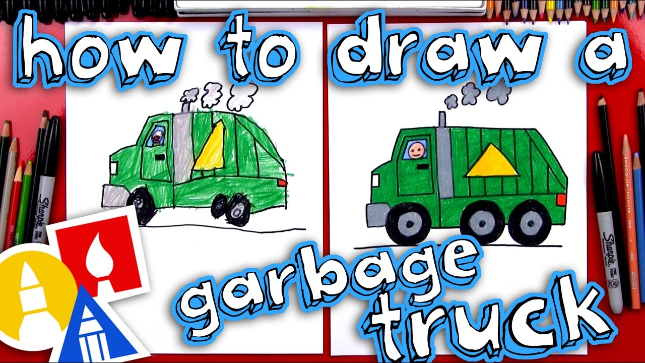 1280x720 How To Draw A Garbage Truck