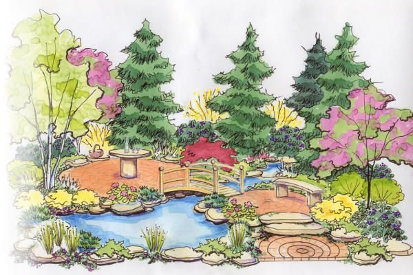 600x400 Drawing Garden
