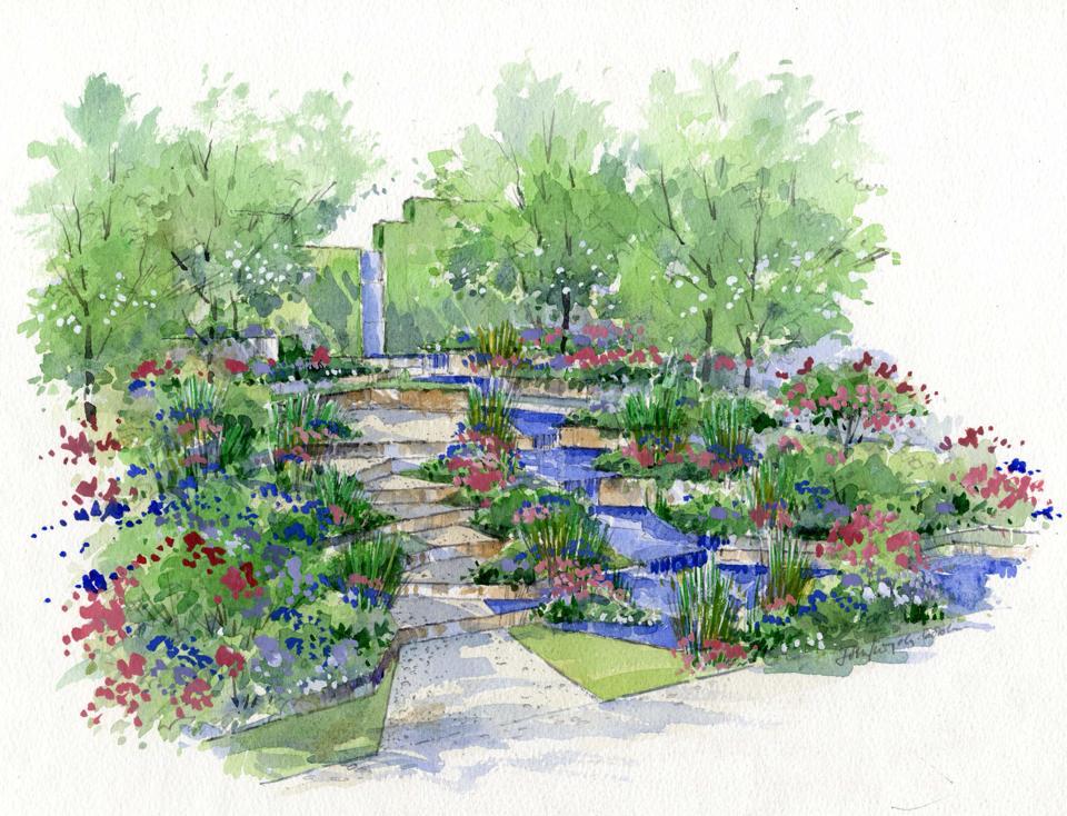 960x734 Flower Garden Drawing