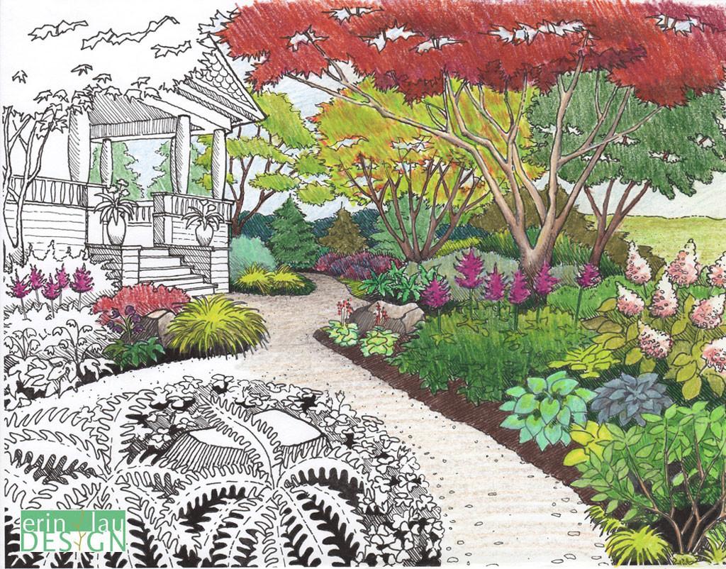 Nice 1024x802 Garden Drawing Details DrawnToGarden