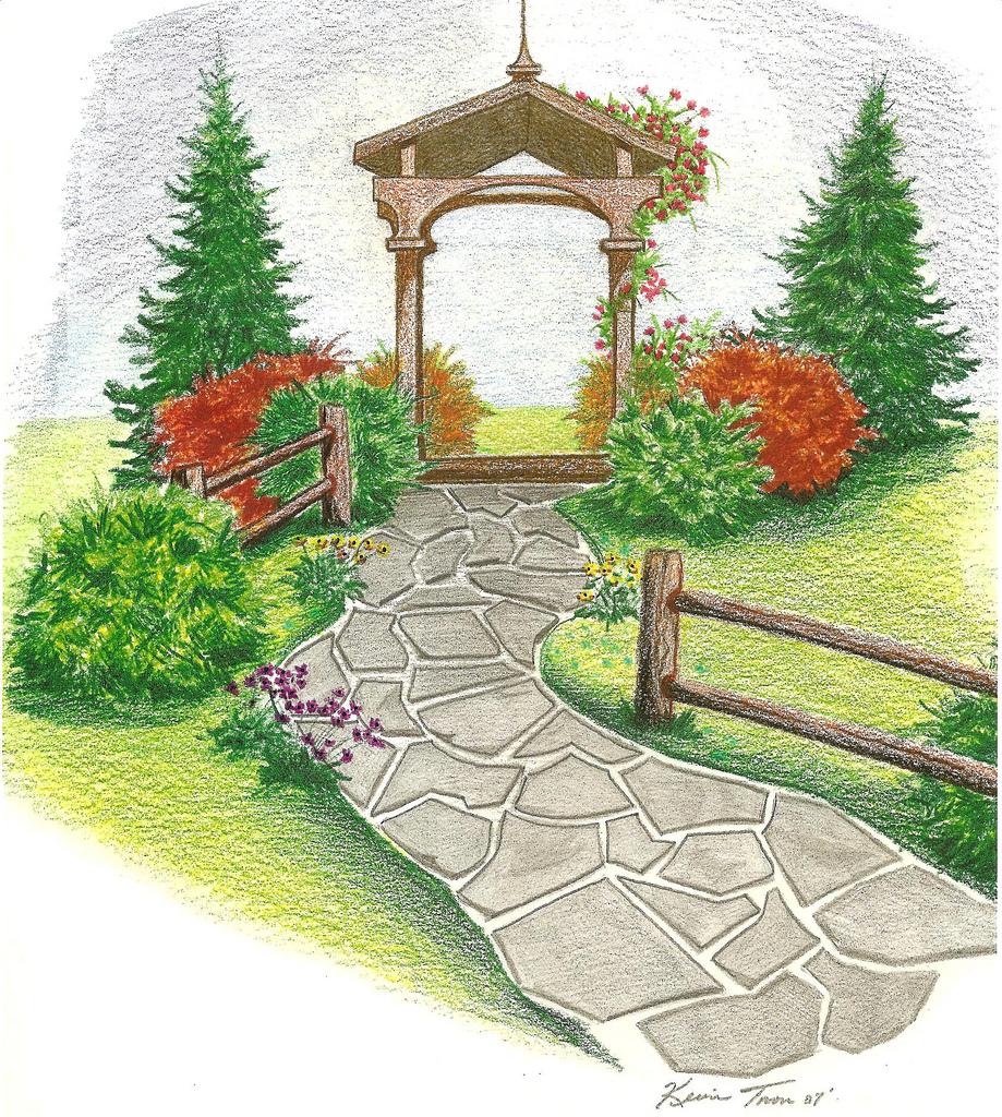 919x1024 Garden Drawing Metz2009