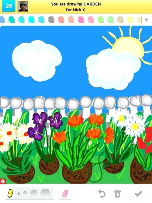 500x667 How To Draw A Garden Garden Drawing Draw Garden Step By Step