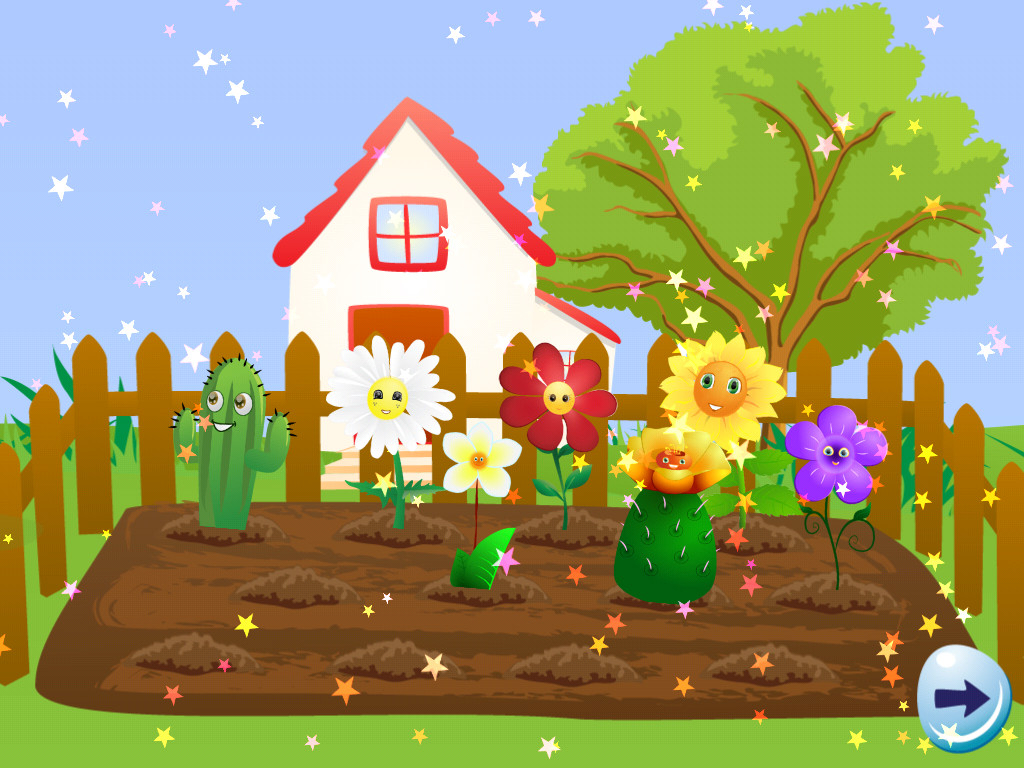 1024x768 Drawing Garden Flowers For Kids