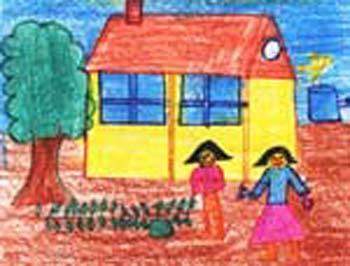 350x266 Kitchen Garden Painting By Kids