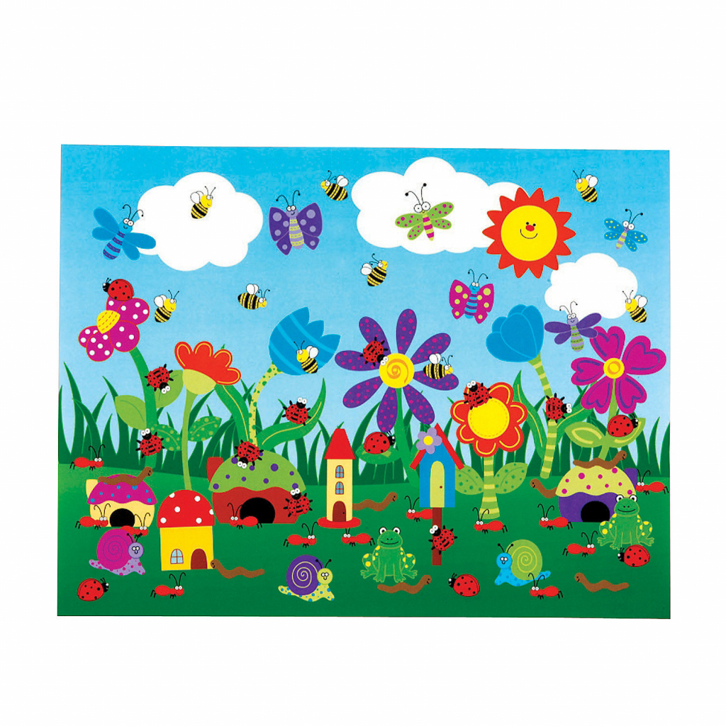 1024x1024 Drawing Garden Flowers For Kids My Flower Garden Drawing Diy