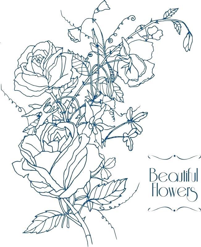 651x800 Flower Garden Sketch Flower Show Sketch Flower Garden Pencil