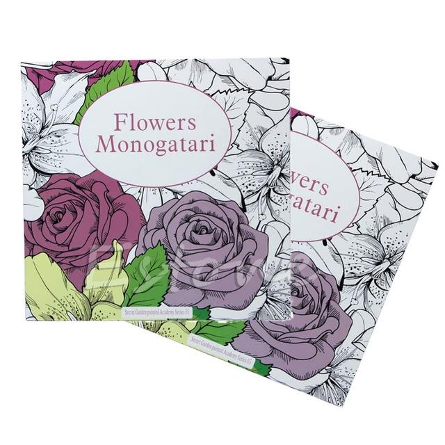 640x640 Graffiti Coloring Book Secret Garden Flowers Monogatari For Adults