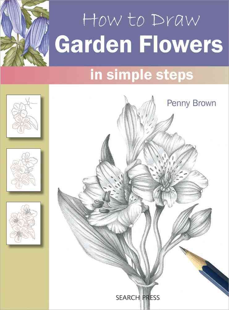 741x1000 How To Draw Garden Flowers In Simple Steps Art