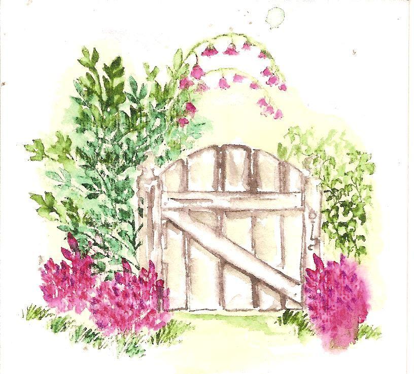816x738 Art Impressions Wc Garden Gate Drawing Art