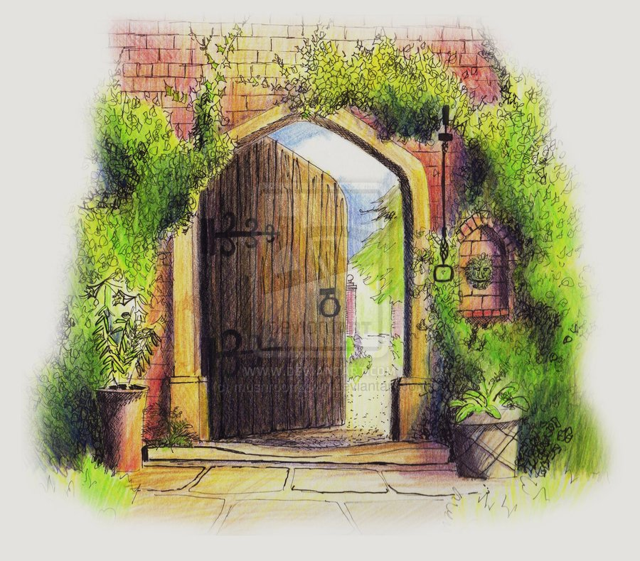 900x790 Enchanted Garden Gate By Mushroomtown On Portals