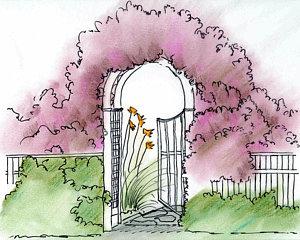 300x240 Garden Gate Drawings