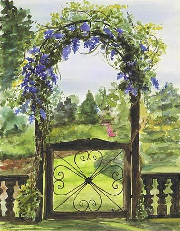 370x475 Garden Gate By Cathy Johansen) . I Know This Is A Painting But