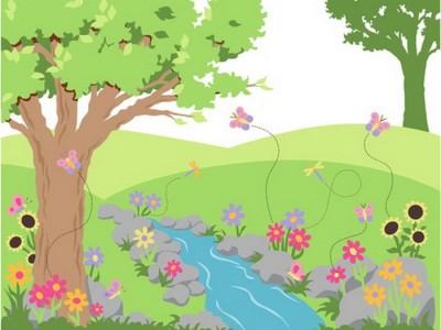 400x300 Breathtaking Flower Garden Drawing For Kids Also Easy Garden