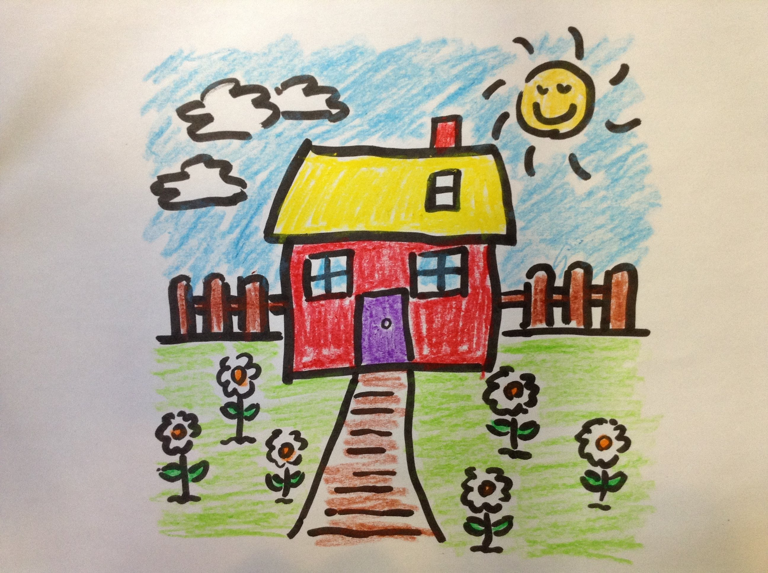 2592x1936 My Beautiful Garden Drawing How To Draw A Cartoon Flower Garden