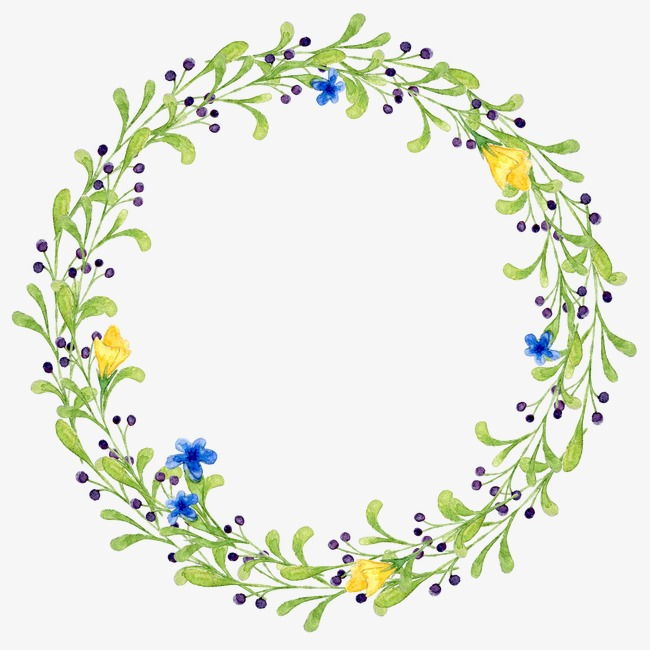 650x650 Hand Painted Plant Garland, Plant, Drawing Plant, Leaves Png Image