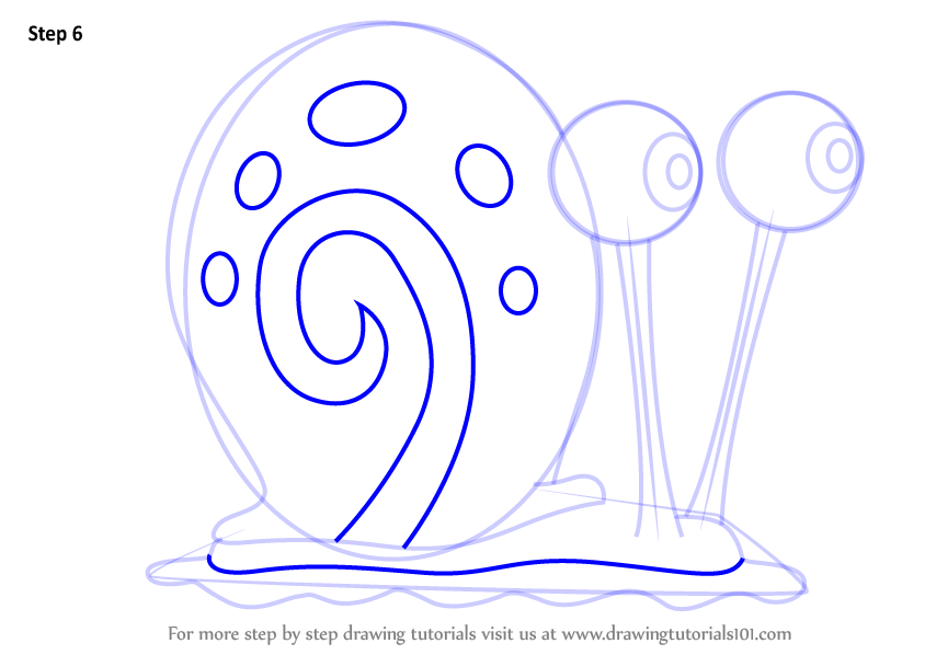844x598 Learn How To Draw Gary The Snail From Spongebob Squarepants