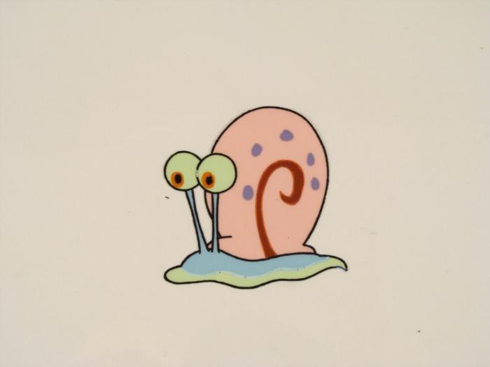 700x525 Original Gary Snail Cel Pet Spongebob Production Art