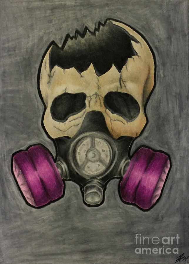 643x900 Gas Mask Skull Drawing By Tyler Schetlin