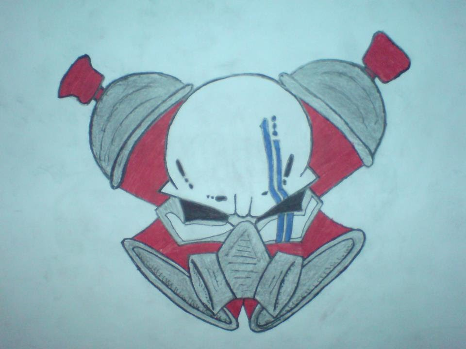 960x720 How To Draw A Gas Mask