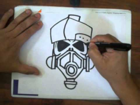 480x360 How To Draw A Skull With A Gas Mask (Quick Sketch)