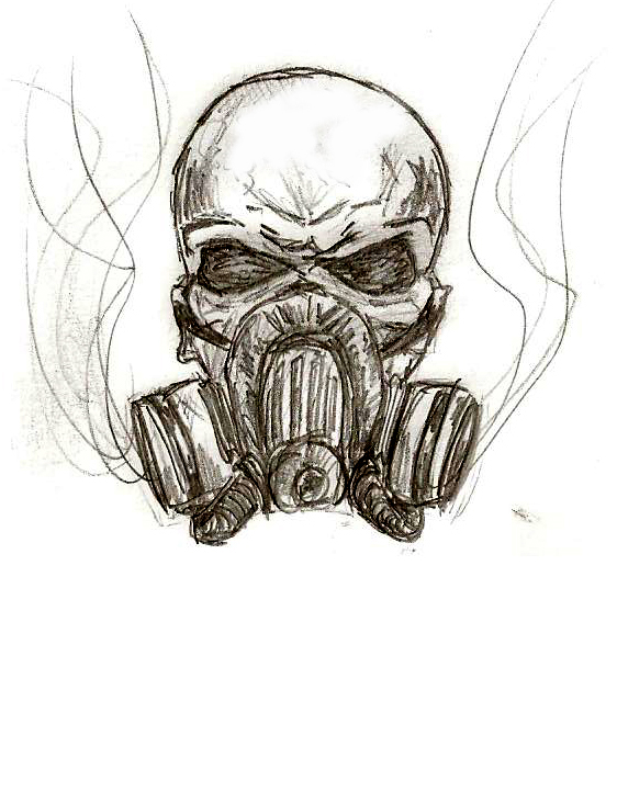562x732 Skull Wings Gas Mask Logo