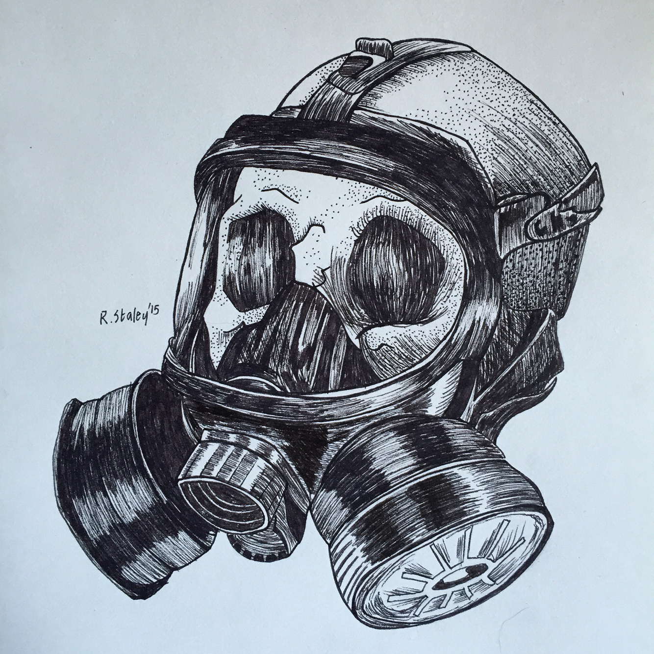 1334x1334 Skull With Gas Mask Drawing Ww2 Gas Mask In Skull Drawings
