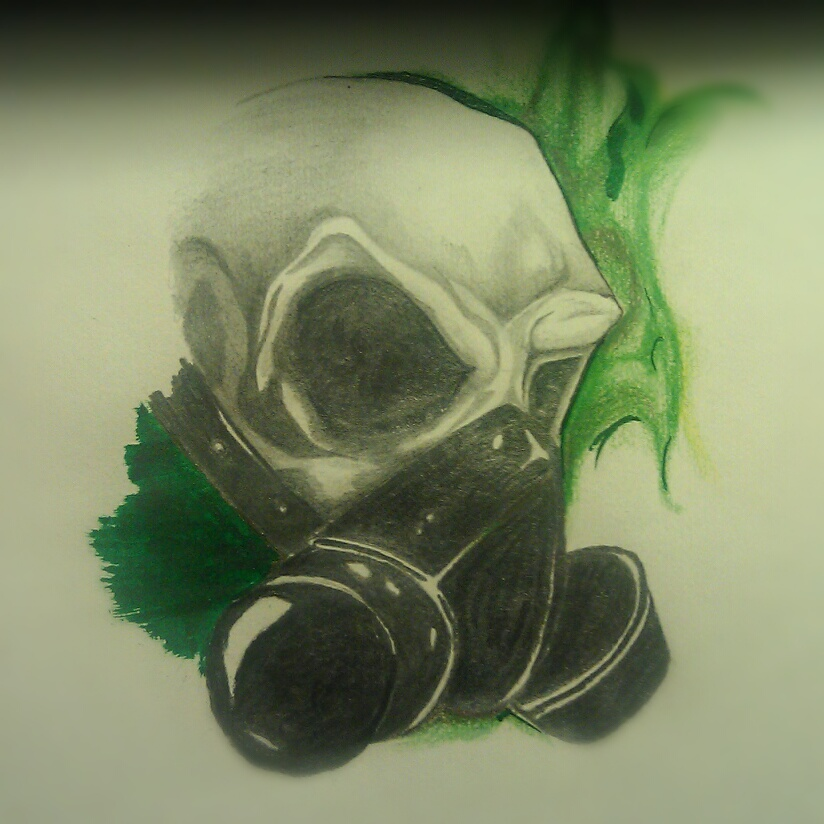 824x824 Skull With Gas Mask By Angelo10c