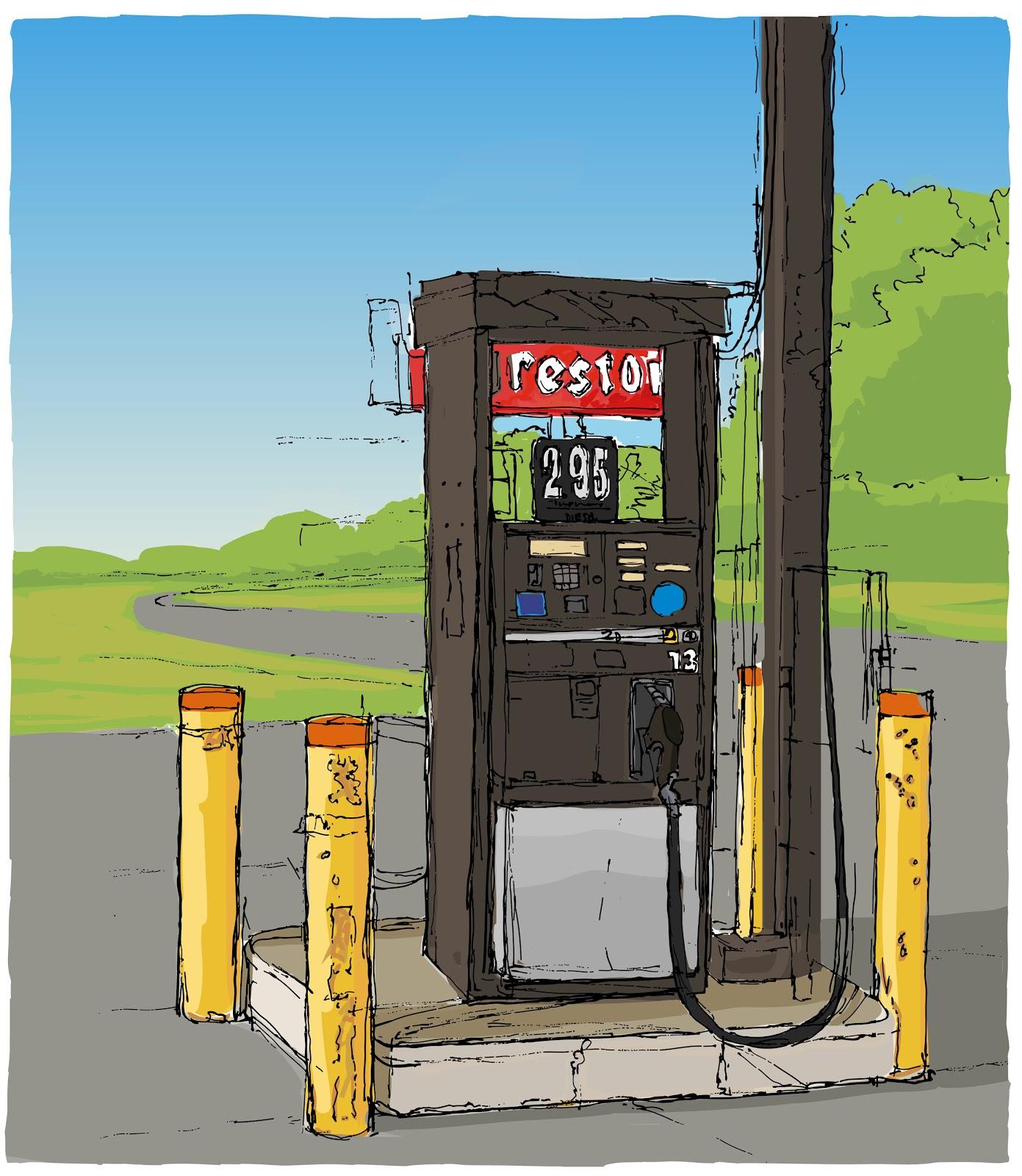 1391x1600 Chris Breier Gas Pump Drawing