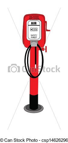 226x470 Retro Air Pump From Fifties Gas Station Eps Vectors