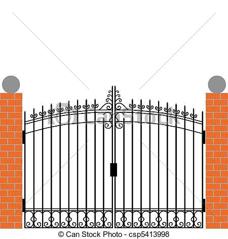 450x470 Iron Gate Vector