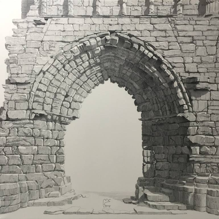770x770 Saatchi Art The Ancient Gate. Ruins Of St. Andrew's Cathedral