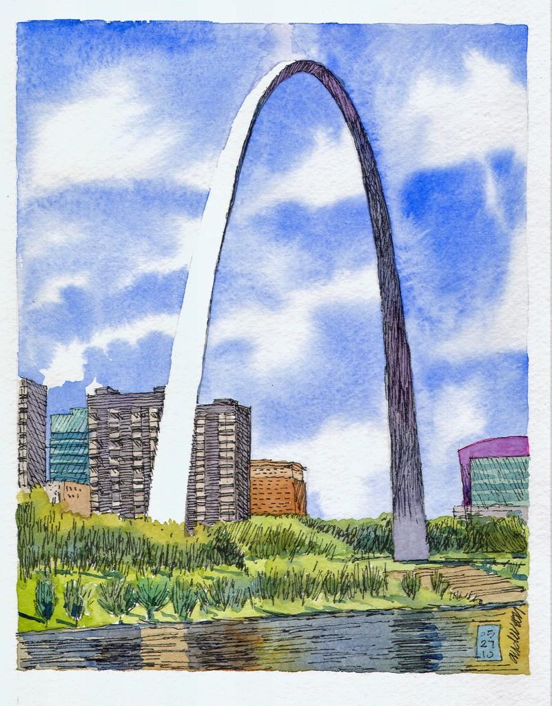 801x1024 Sketching St. Louis Gateway Arch, St. Louis