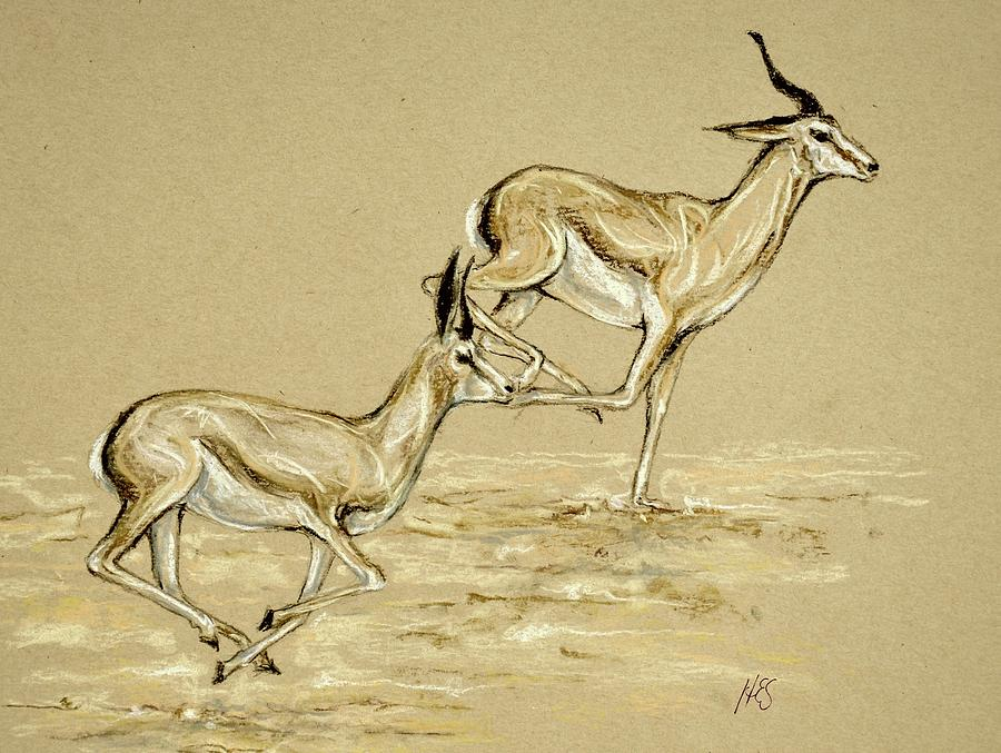 900x677 Running Free Drawing By Heidi Kriel