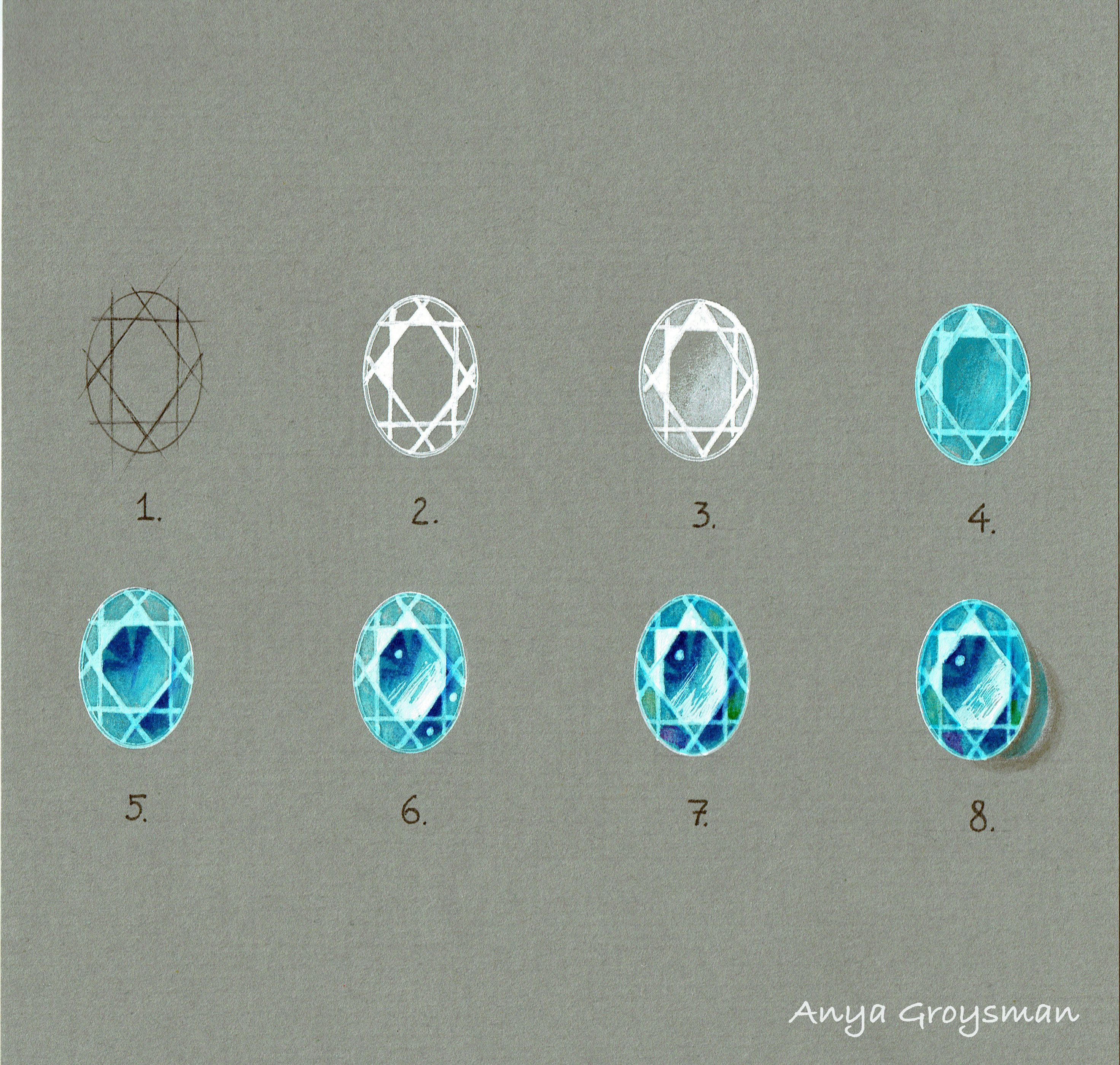 2944x2799 Drawing Gemstones With Anya Groysman Sketches