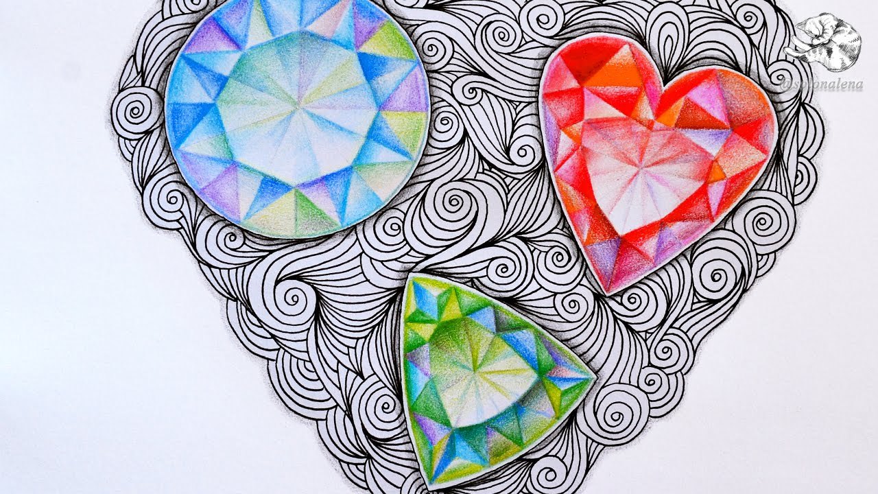 1280x720 How To Draw Gems Zentangle Inspired Jewels And Faceted Gemstones