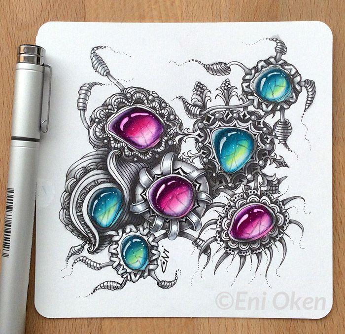 700x677 Bilderesultat For Drawing Gems Zentangle Coloring