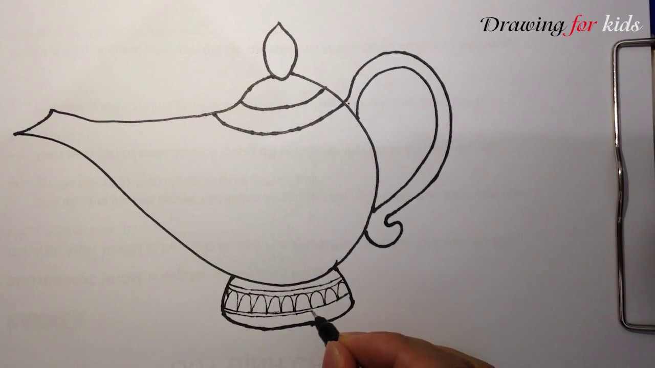 1280x720 Aladdin Genie Lamp How To Draw The Famous Magic Lamp Step By